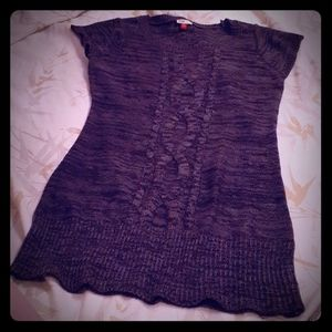 Grey Cable Knit Tunic/Sweater Dress, size xl